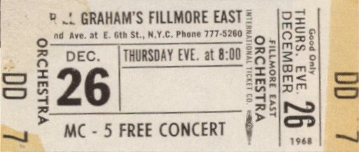 MC5 * * * FILLMORE EAST