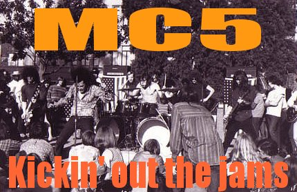 MC5  in Provo Park, CA - Spring 69 - Photo by Emil BACILLA