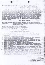 BLACK PANTHER PARTY 10-POINT PROGRAM  -  CLICK TO ENLARGE